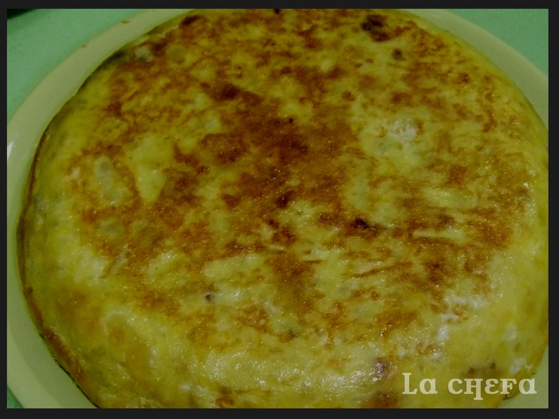 Patata Porner tortilla española con jamón y queso | lachefa