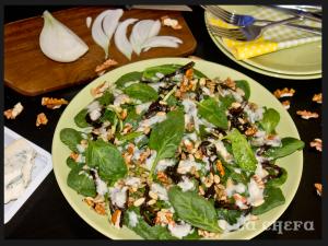 ensalada-espinacas-y-frutos-secos-con-salsa-gorgonzola